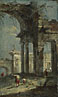 Francesco Guardi: 'Caprice View with Ruins'