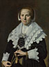 Frans Hals: 'Portrait of a Woman with a Fan'