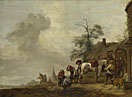 Philips Wouwermans: 'A Horse being Shod outside a Village Smithy'