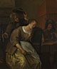 Jan Steen: 'A Man Blowing Smoke at  Drunken Woman'