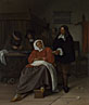 Jan Steen: 'An Interior with a Man offering an Oyster to a Woman'