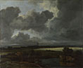Jacob van Ruisdael: 'An Extensive Landscape with Ruins'