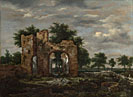 Jacob van Ruisdael: 'A Ruined Castle Gateway'