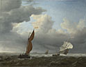 Willem van de Velde: 'A Dutch Ship and Other Small Vessels in a Strong Breeze'