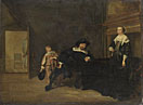 Pieter Codde: 'Portrait of a Man, a Woman and a Boy in a Room'