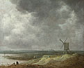 Jan van Goyen: 'A Windmill by a River'