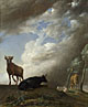 Paulus Potter: 'Cattle and Sheep in a Stormy Landscape'