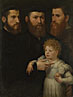 Netherlandish (?): 'Three Men and a Little Girl'