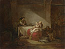 Attributed to Jean-Honoré Fragonard: 'Interior Scene'