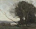 Jean-Baptiste-Camille Corot: 'The Leaning Tree Trunk'