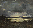 Théodore Rousseau: 'Sunset in the Auvergne'