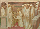 Lorenzo Monaco: 'Saint Benedict admitting Saints into the Order'
