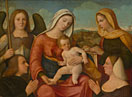 Francesco Bissolo: 'The Virgin and Child with Saints and Donors'