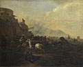 Hendrick Verschuring: 'Cavalry attacking a Fortified Place'