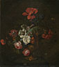 Style of Jan van Huysum: 'Flowers in a Stone Vase'