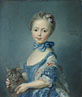 Attributed to Jean-Baptiste Perronneau: 'A Girl with a Kitten'