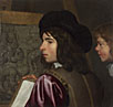 Attributed to Jacob van Oost the Elder: 'Two Boys before an Easel'