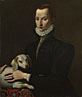 Italian: 'Portrait of a Lady with a Dog'