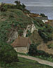 Antoine Chintreuil: 'House on the cliffs near Fécamp'