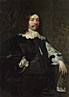 Bartholomeus van der Helst: 'Portrait of a Man in Black holding a Glove'