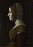 Attributed to Giovanni Ambrogio de Predis: 'Profile Portrait of a Lady'