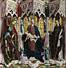Attributed to Michael Pacher: 'The Virgin and Child Enthroned with Angels and Saints'
