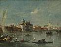 Francesco Guardi: 'Venice: The Giudecca with the Zitelle'