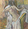 Hilaire-Germain-Edgar Degas: 'After the Bath, Woman drying herself'