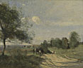 Jean-Baptiste-Camille Corot: 'The Wagon ('Souvenir of Saintry')'