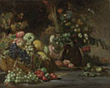 Attributed to Pierre Andrieu: 'Still Life with Fruit and Flowers'