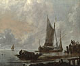 Jan van de Cappelle: 'Vessels Moored off a Jetty'