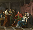Jean-Joseph Taillasson: 'Virgil reading the Aeneid to Augustus and Octavia'