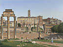 Christoffer Wilhelm Eckersberg: 'View of the Forum in Rome'