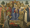 Benozzo Gozzoli: 'The Virgin and Child Enthroned among Angels and Saints'