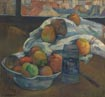 Paul Gauguin: 'Bowl of Fruit and Tankard before a Window'