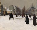 Norbert Goeneutte, 'The Boulevard de Clichy under Snow'