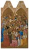 Attributed to Jacopo di Cione and workshop: 'Adoring Saints: Left Main Tier Panel'