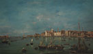 Francesco Guardi, Venice: The Giudecca Canal and the Zattere, probably 1765-70