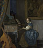 Johannes Vermeer: 'A Young Woman seated at a Virginal'