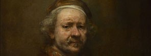 Detail from Rembrandt, Self Portrait at the Age of 63, 1669