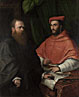Attributed to Girolamo da Carpi: 'Cardinal Ippolito de' Medici and Monsignor Mario Bracci'