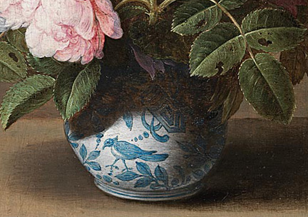 Detail from Osaias Beert the Elder, 'Flowers in a Porcelain Wan-Li Vase', about 1615 Private collection © Photo courtesy of the owner