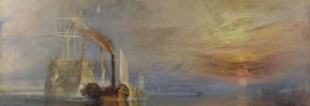Joseph Mallord William Turner, The Fighting Temeraire tugged to her last berth to be broken up (detail), 1838, Oil on canvas, 90.7 x 121.6 cm, Turner Bequest, 1856.