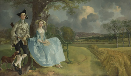 Detail from Thomas Gainsborough, 'Mr and Mrs Andrews', about 1750 © The National Gallery, London
