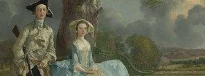 Detail from Thomas Gainsborough, Mr and Mrs Andrews, about 1750