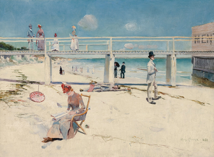 Charles Conder, 'A Holiday at Mentone', 1888. South Australian Government Grant with the assistance of Bond Corporation Holdings Limited through the Art Gallery of South Australia Foundation to mark the Gallery's Centenary 1981 © Art Gallery of South Australia, Adelaide