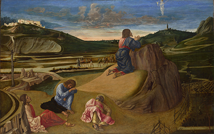 Giovanni Bellini, The Agony in the Garden, about 1465 © The National Gallery, London