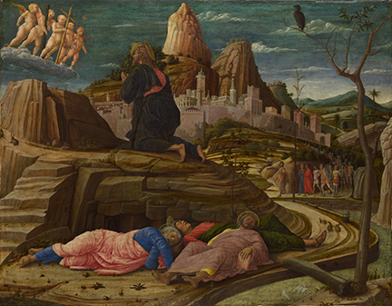 Andrea Mantegna, The Agony in the Garden, about 1458–60 © The National Gallery, London
