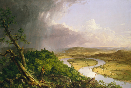 Thomas Cole, View from Mount Holyoke, Northampton, Massachusetts, after a Thunderstorm – The Oxbow, 1836 © The Metropolitan Museum of Art, New York