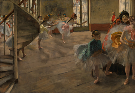 Hilaire-Germain-Edgar Degas, The Rehearsal, about 1874  © CSG CIC Glasgow Museums Collection
